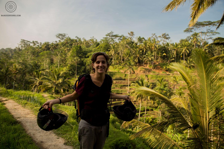 Clem à Bali pendant le tour du monde
