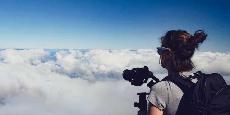 Clem au dessus des nuages - Haleakala National Park - Maui - Hawaii