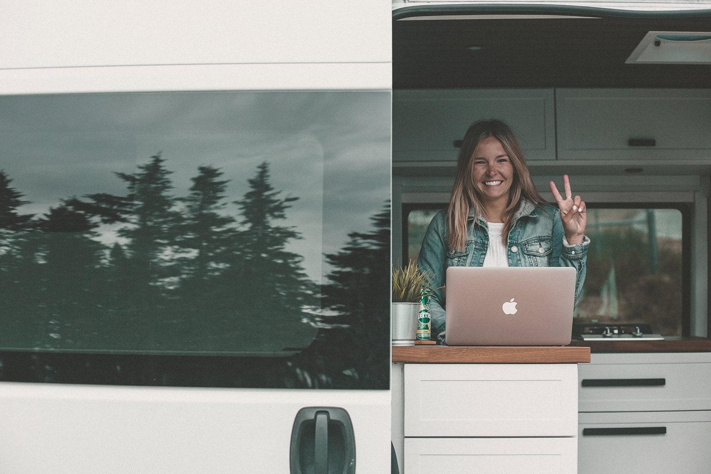 Travailler dans un van