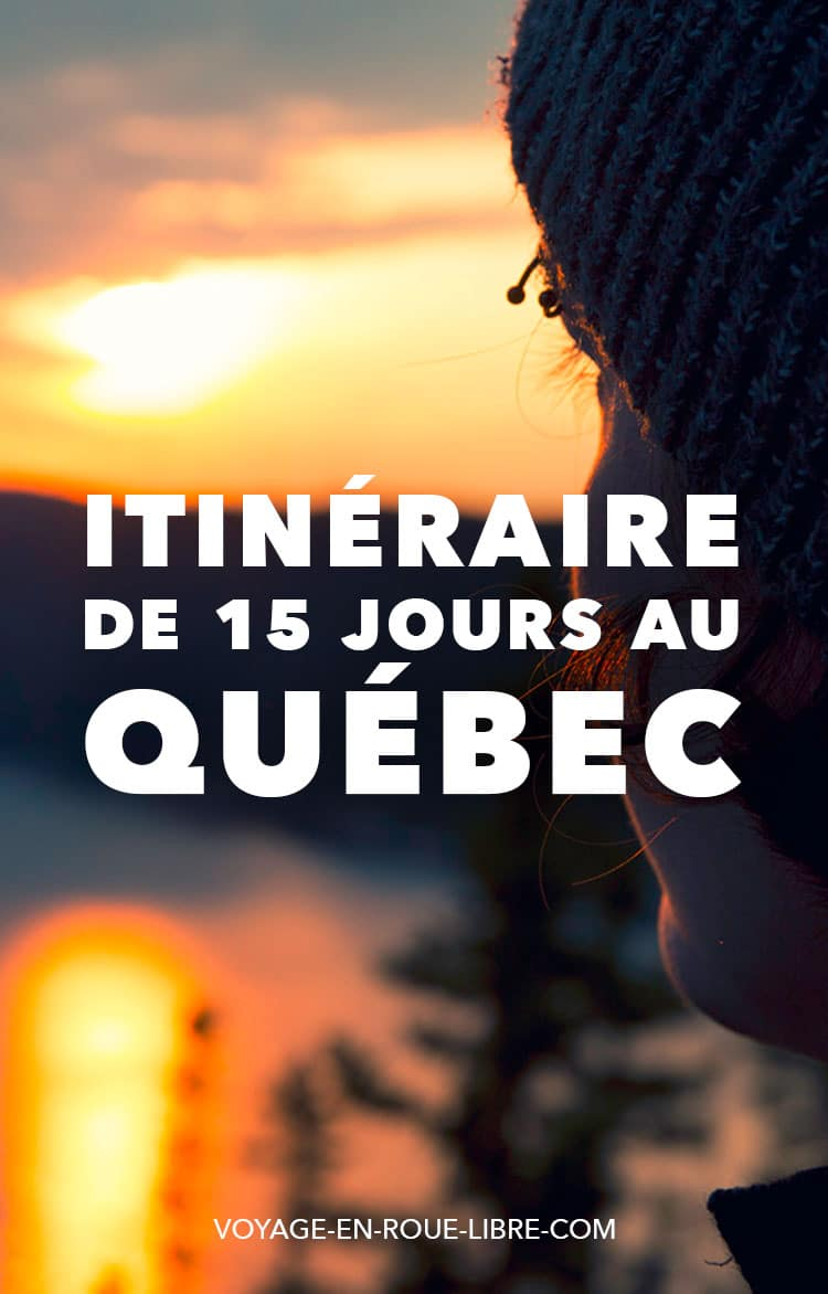 15 jours pour découvrir le Québec en étéÇa y est ! Cette année, c'est la bonne ! Tu as enfin pris tes billets pour le Québec ! Cet été, tu en profiteras :2 semaines pour découvrir la nature sauvage, les festivals, la gastronomie québécoise.Mais deux semaines, c'est court quand on voit l'immensité du territoire ! Par où commencer ?