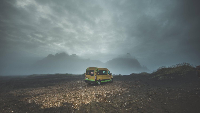 voyager en van en Islande