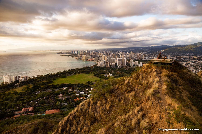 Honolulu sur l'île d'Oahu