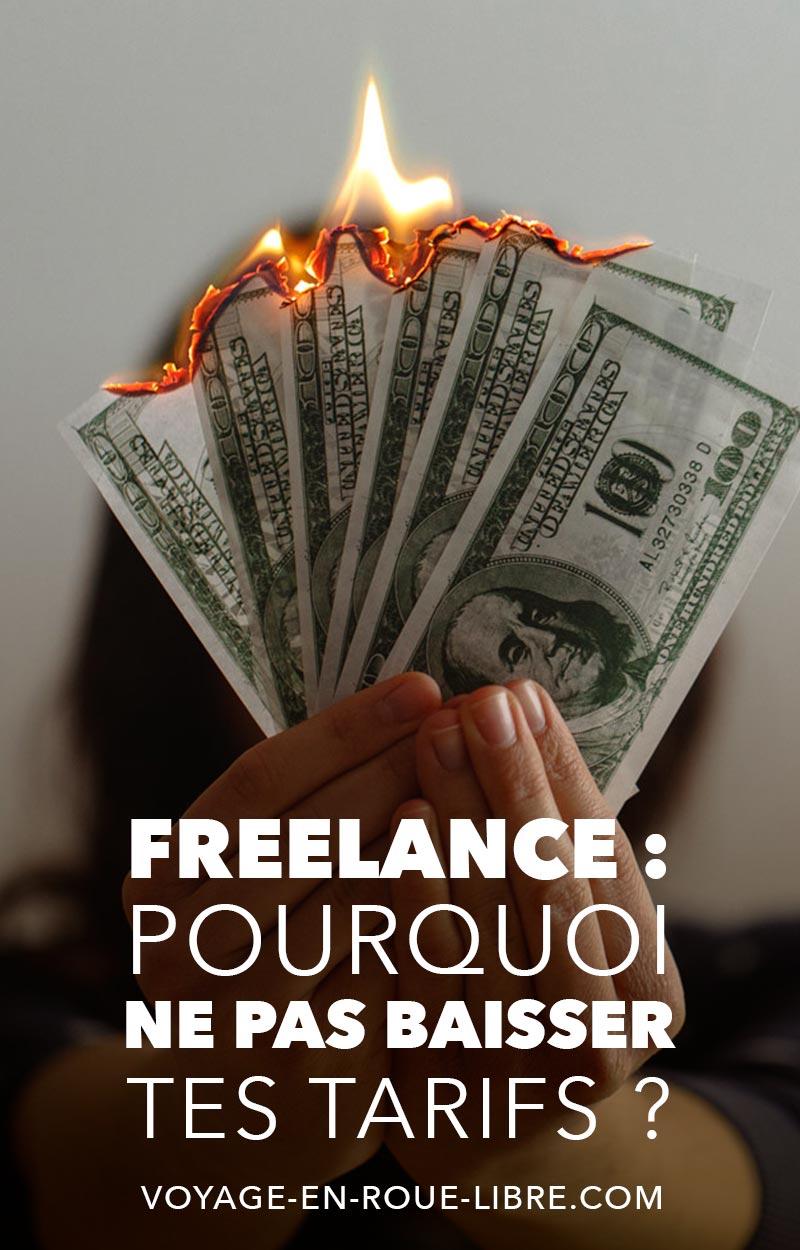 Pourquoi il ne faut pas baisser ses tarifs quand on est freelance.