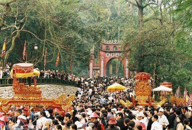 Cérémonie de l'anniversaire de la mort des rois Hung, Vietnam