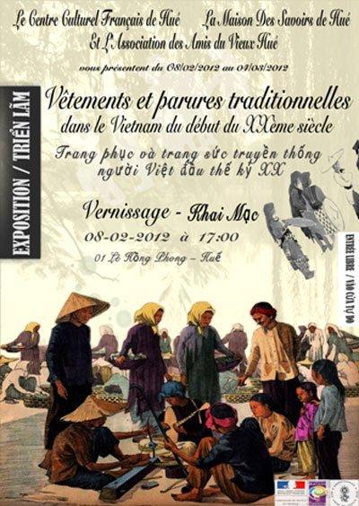 Exposition sur les tenues traditionnelles des Vietnamiens
