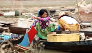 Vie quotidienne sur le lac Tonlé Sap - CAMBODGE