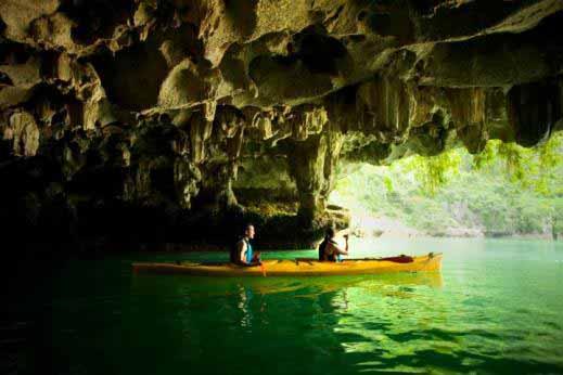 Kayak en baie de Lan Ha - Vietnam