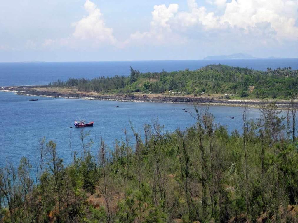 Ile de Lý Sơn au loin, Vietnam