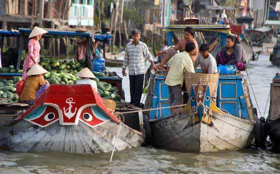 Marché flottant, Cai Be, Vietnam