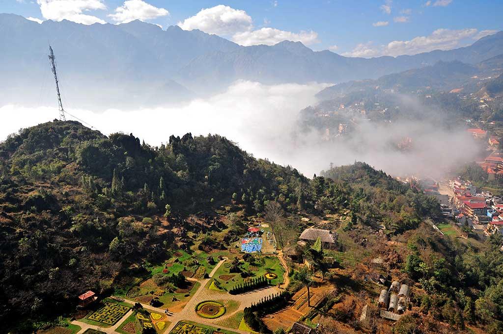 Sa Pa vue du sommet - Vietnam
