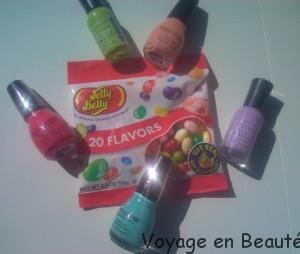 giveaway bonbons acidulés Jelly Beans et vernis Sally Hansen et Sinfulcolors