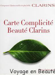 Carte complicite Clarins offre fidelite