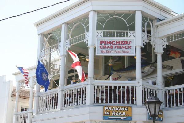 Pinchers Crab Shack Key West un restau bien sympa : les crabcakes délicieux !