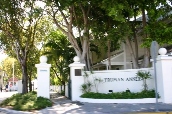L'annexe de la Maison Blanche à Key West depuis le séjour du président Harry Trumann