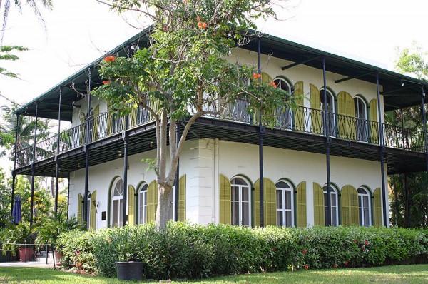 La villa d'Ernest Hemingway aujourd'hui transformée en musée à Key West