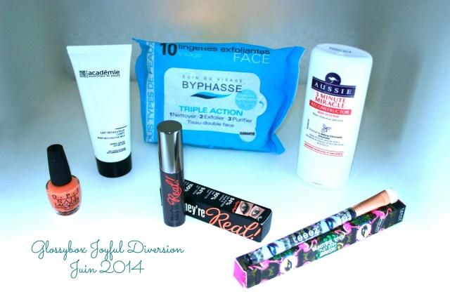 glossybox-joyful-diversion-juin-2014-avis