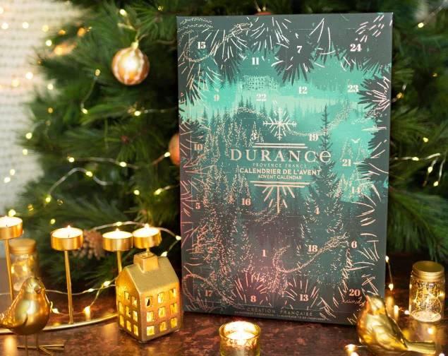Calendrier de l'Avent Durance En Provence 2021 : bougies + cosmétiques parfumés spoiler, contenu, code promo, unboxing