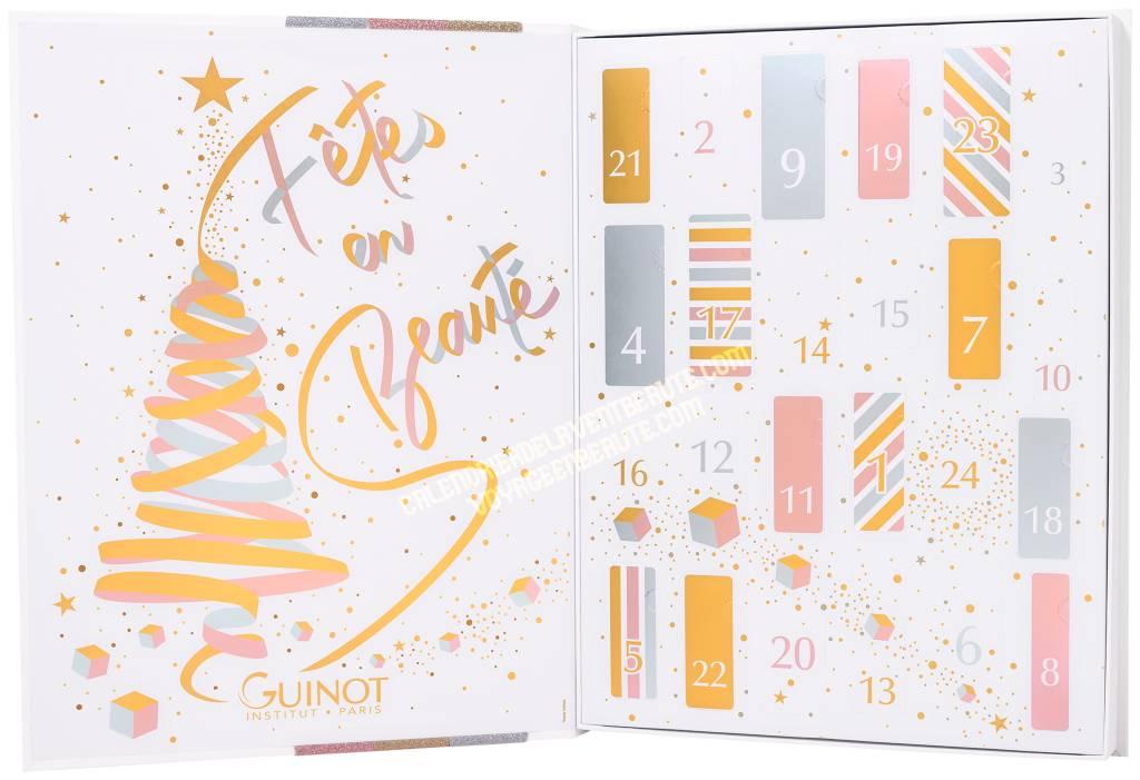 Calendrier de l'Avent Guinot 2021 : maquillage, parfums, soins du visage, spoiler, contenu, code promo, unboxing