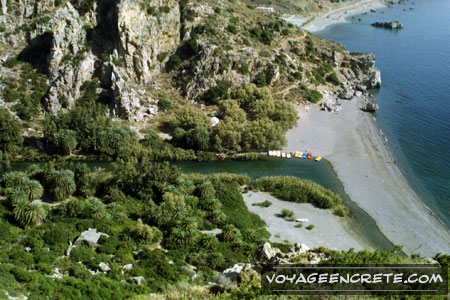 Ballade en Crète : la plage de Préveli