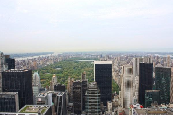Vue sur Central Park depuis le Top of the Rock