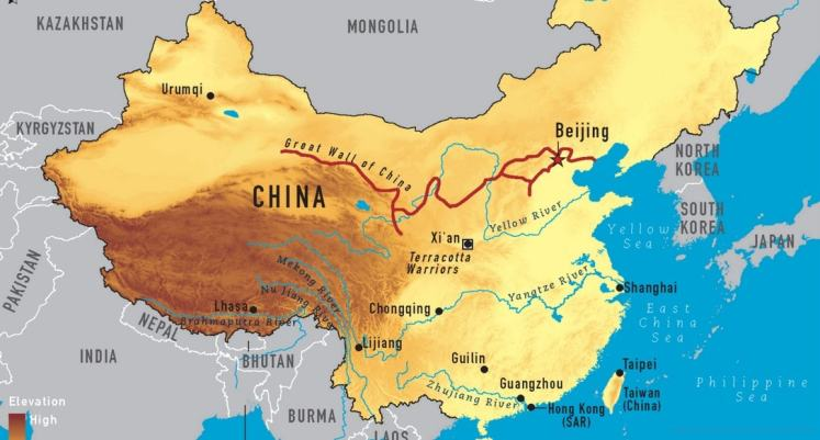 Carte et Map - Grande Muraille de Chine