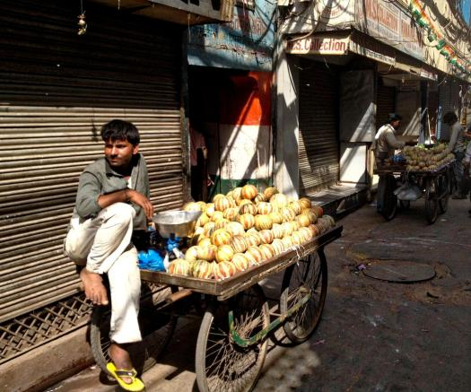 street vendor in new delhi