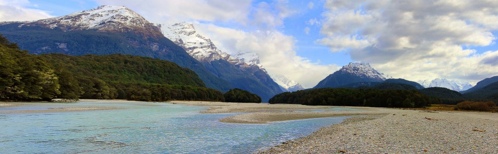 Jet Boats Approaching, Dart River, Mt Aspring National Park, New Zealand - Taken by Diann Corbett, 09/2014.
