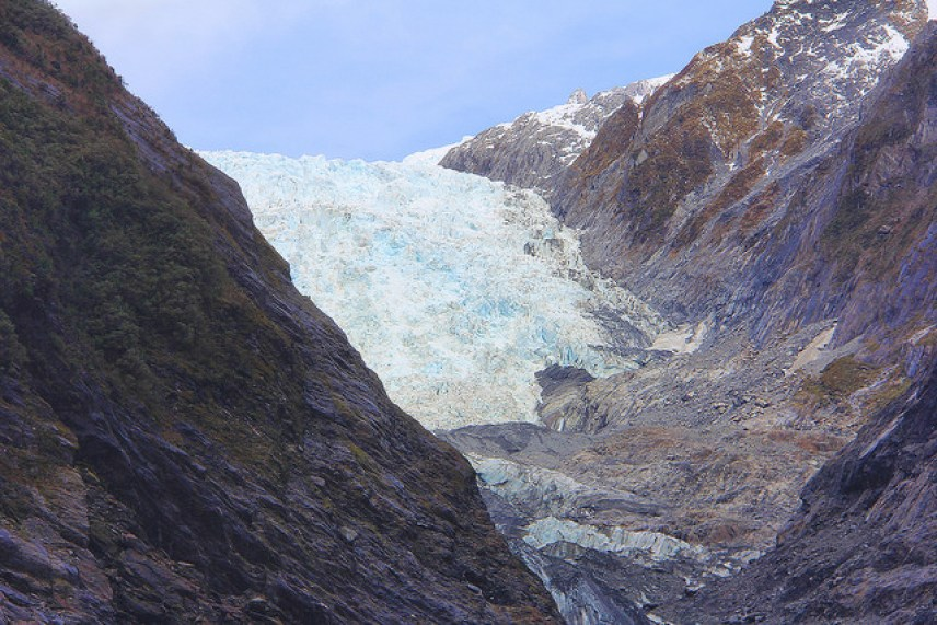 Franz Josef Glacier, Visiblle When Clouds Parted, New Zealand - Taken by Diann Corbett, 09/2014.