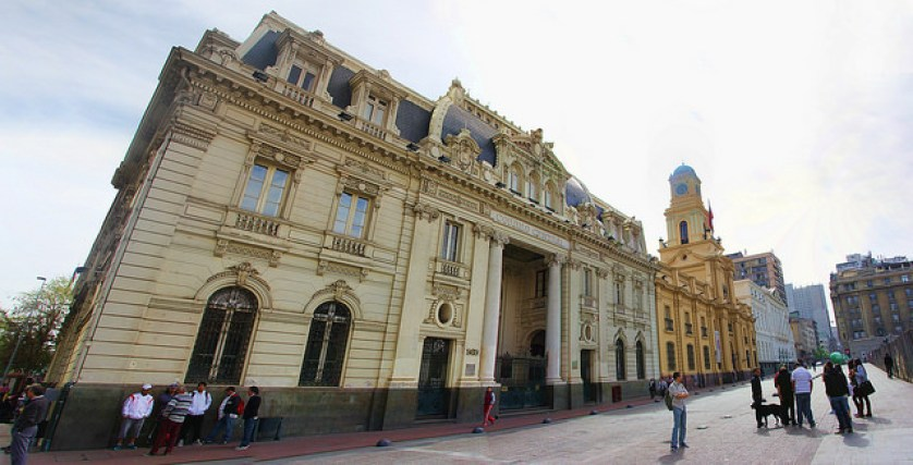Post Office, French-style Architecture in Santiago's Plaza de Armas, taken 10/2014 by Diann Corbett