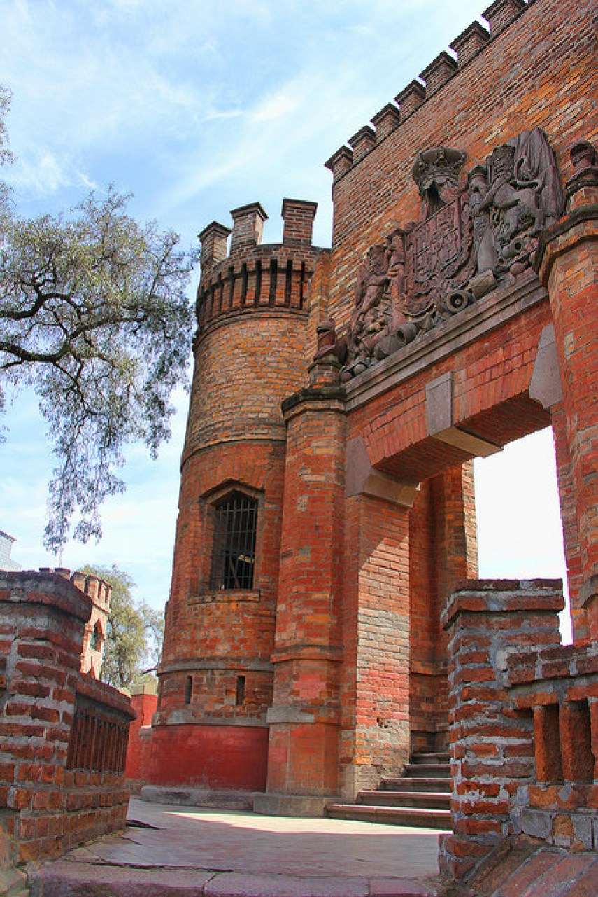 Castle on Santa Lucia Hill, Santiago, Chile, 10/2014, taken by Diann Corbett.