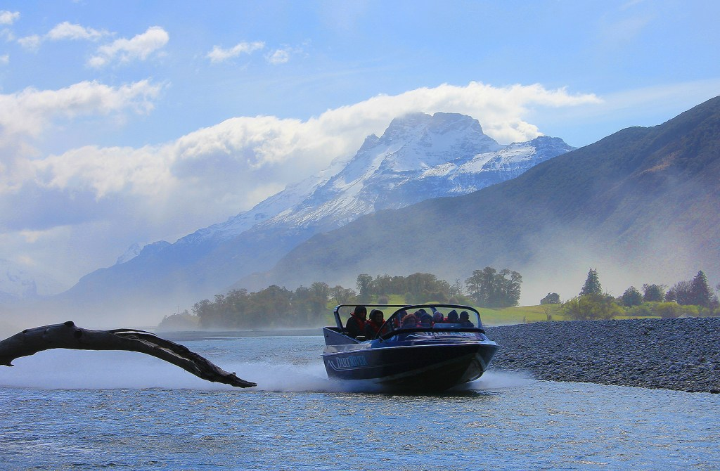 Jet Boat, Dart River Wilderness Tours, Glenorchy, New Zealand - Taken by Diann Corbett, 09/2014.