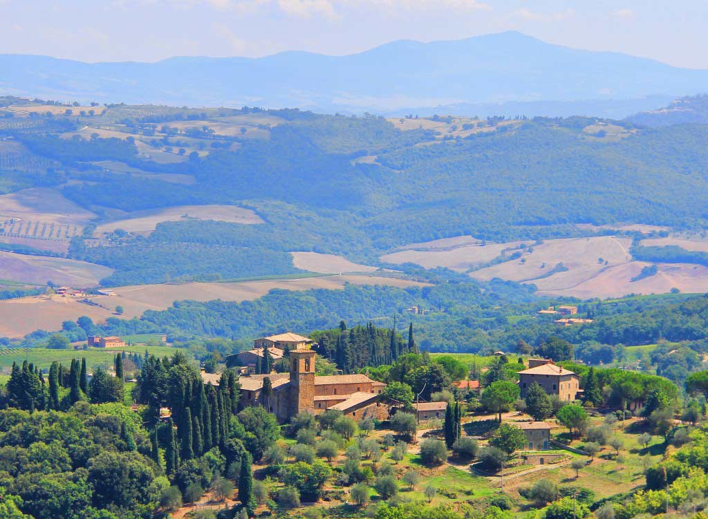 View from Montalcino, Italy - Taken by Diann Corbett, 09/2015.