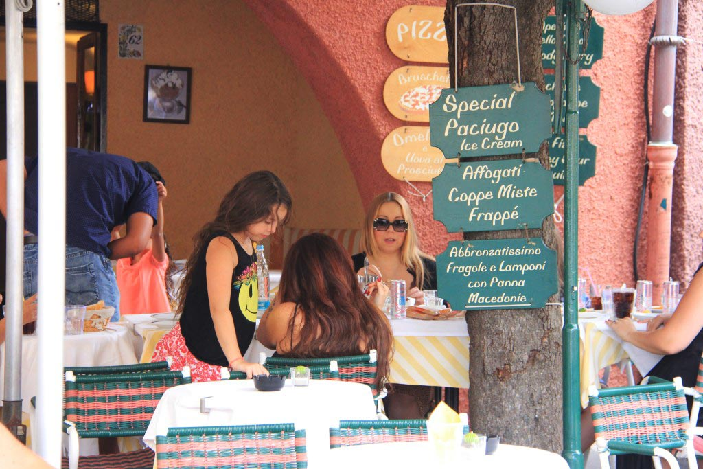 Mariah Carey, Lunching in Portofino, Italy - Taken by Diann Corbett, 09/2015.
