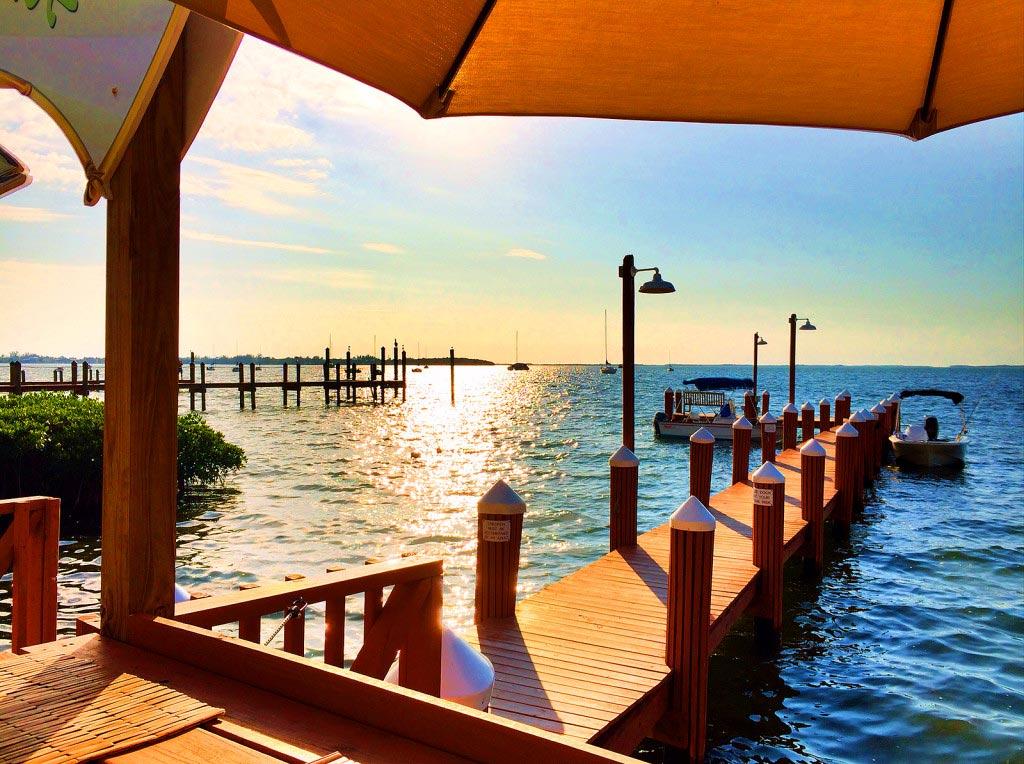 Snook's Bayside Sunset, Key Largo, Florida Keys, 5/2015 by Diann Corbett