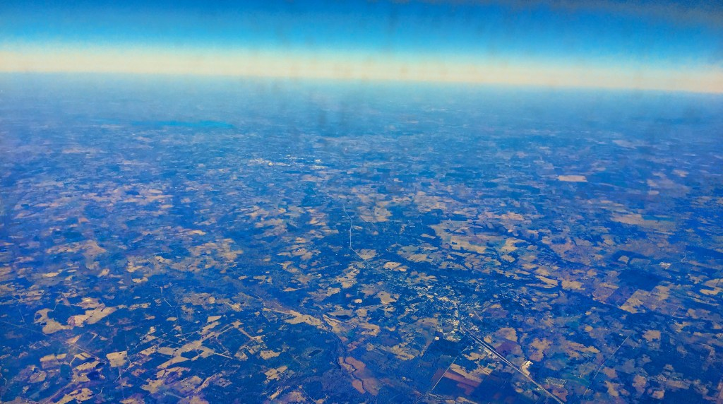 Flying into Austin, Texas - Taken by Diann Corbett, 12/2015.