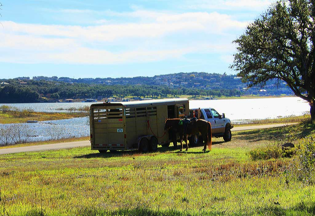 Camping with Horses, Lake Travis, Texas Hill Country, Austin, TX - taken by Diann Corbett, 12/2015.