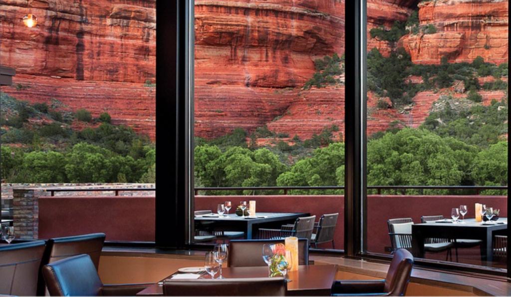 Restaurant View at Enchantment Resort, Sedona, AZ