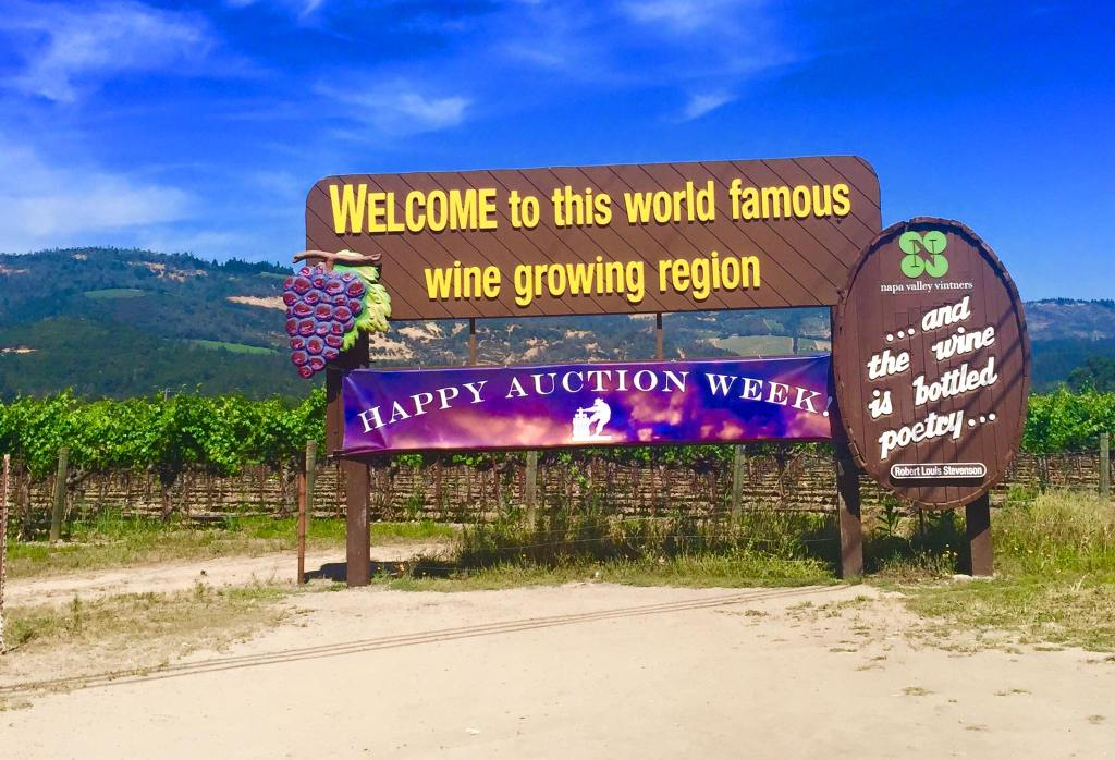 Napa Valley Wine Region Sign
