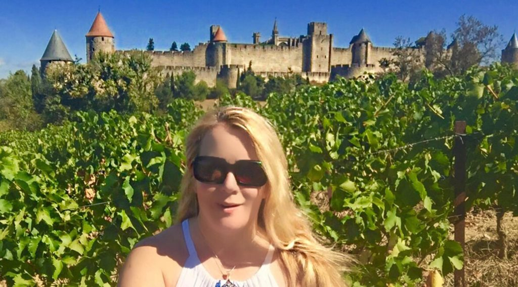 Diann in Vineyard at Carcassonne