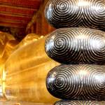 The Temple of the Reclining Buddha in Bangkok, Thailand.
