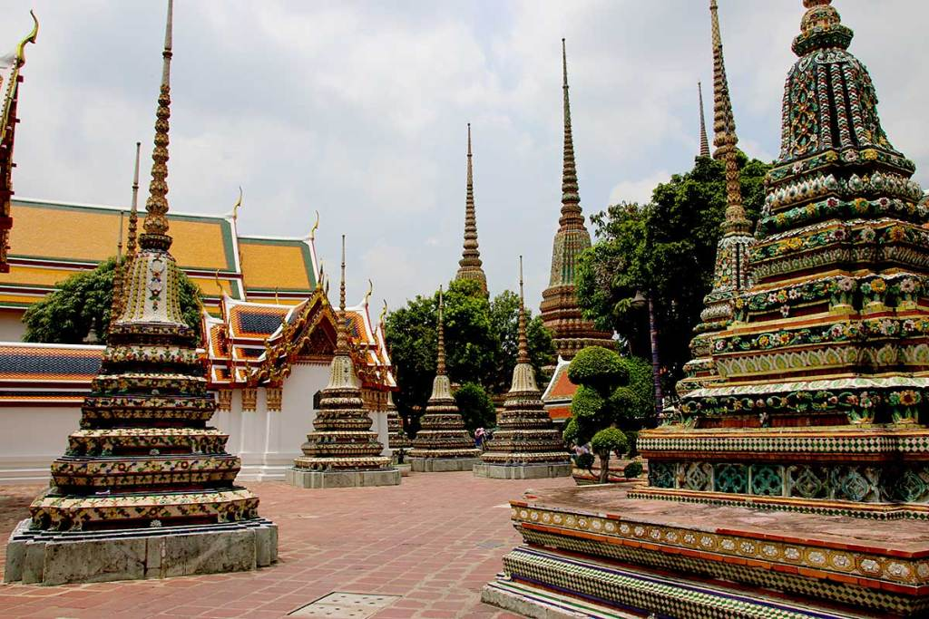 Wat Pho or Temple of the Reclining Buddha in Bangkok.
