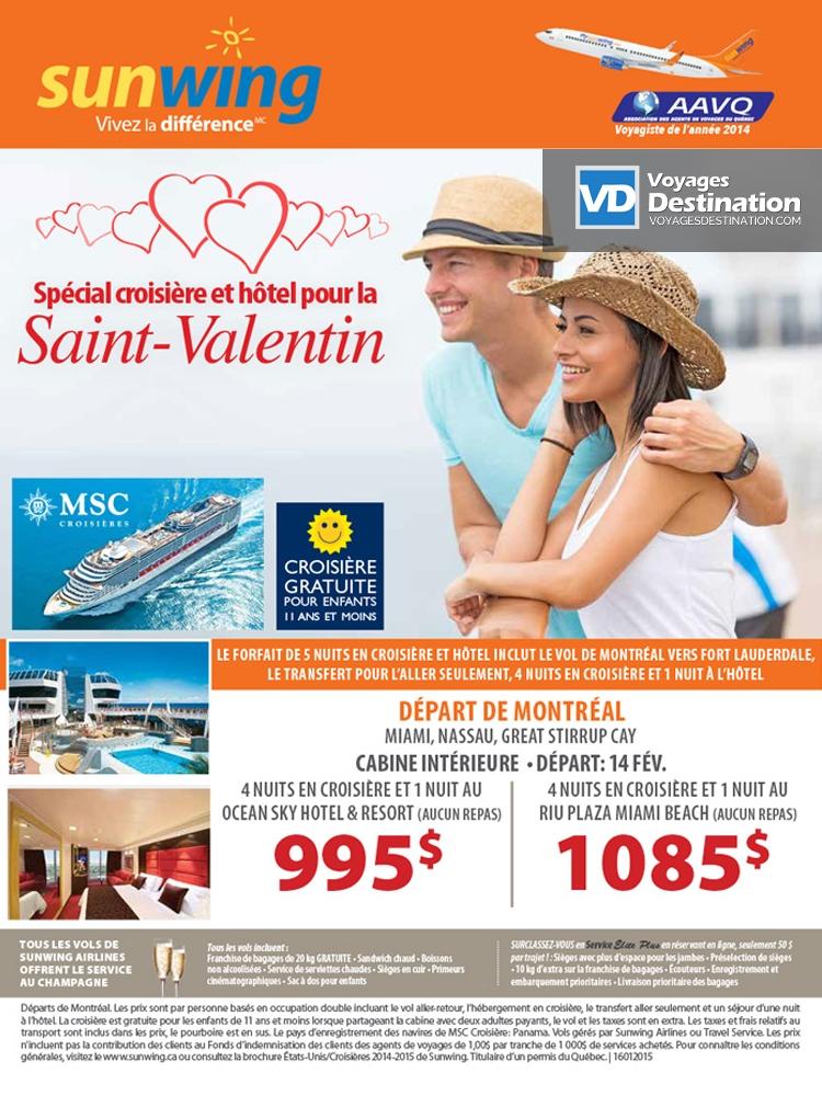 Spcial Croisire Et Htel Pour La Saint Valentin Dparts