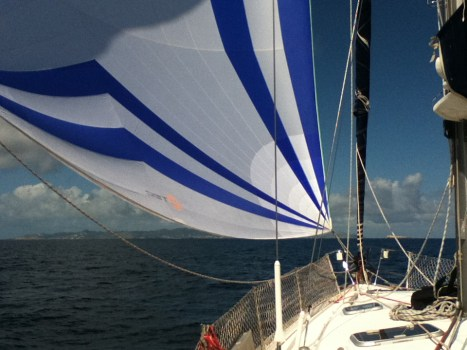 11 - Flying the spinnaker on Phoenix