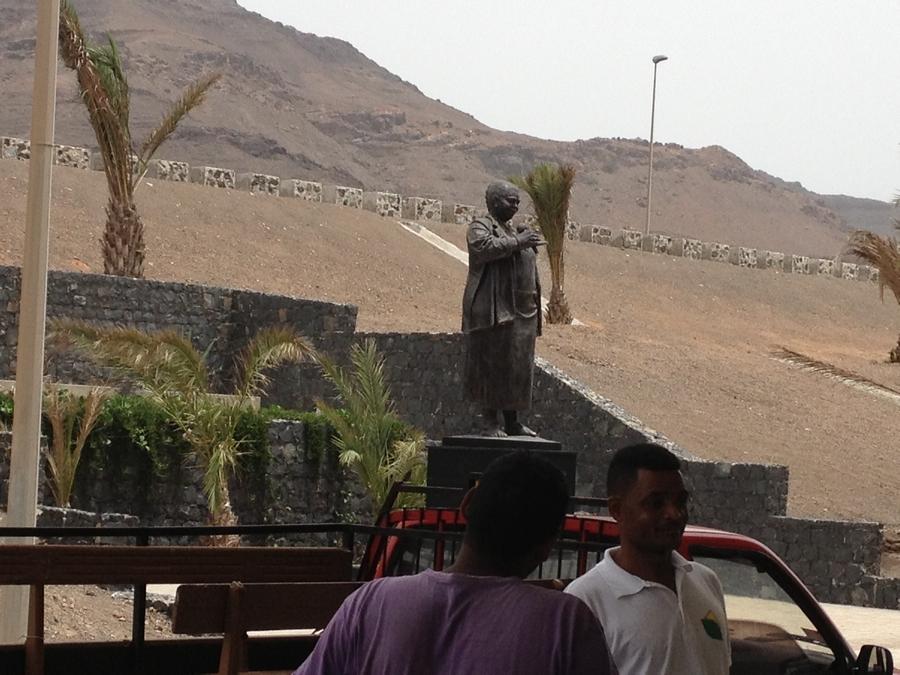 Statue of Cesaria Evora at the airport - São Vicente, Cape Verde