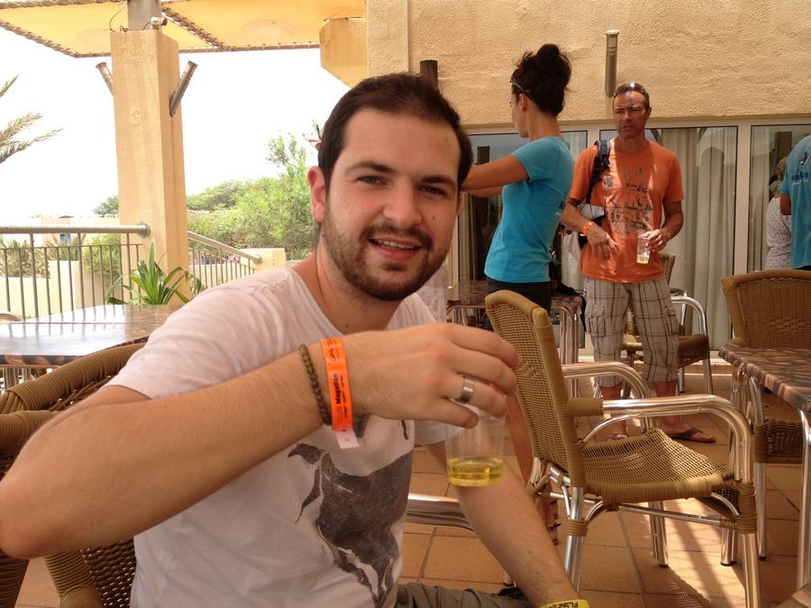 Tasting the grogue - Foya Branca Hotel , São Vicente, Cape Verde
