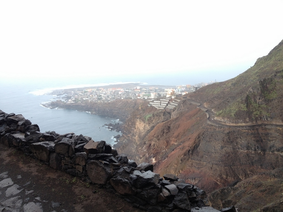 View on Ponta do Sol after our walk - Santo Antão, Cape Verde
