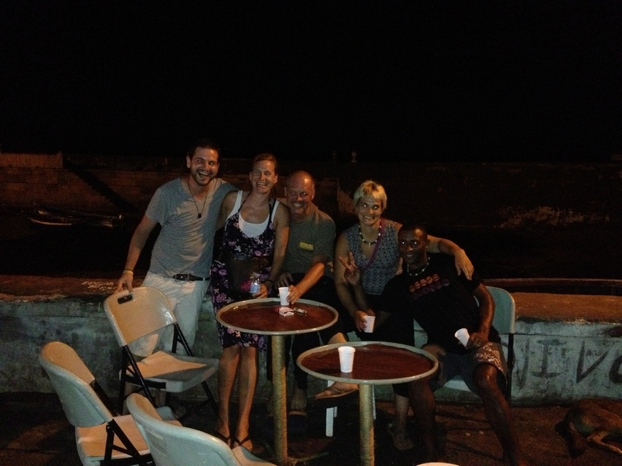 Séb, Vera, Gordon, Marie and Arlindo - Ponta do Sol, Santo Antão, Cape Verde