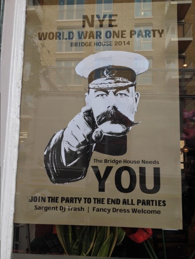 Affiche pour soirée de Nouvel An - Londres, Angleterre