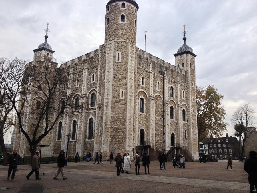 La White Tower dans la Tour de Londres - Londres, Angleterre