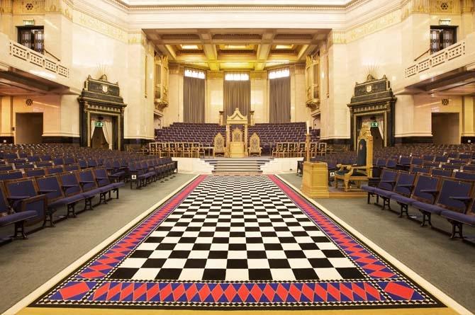 Grande salle du Freemason's hall - Londres, Angleterre